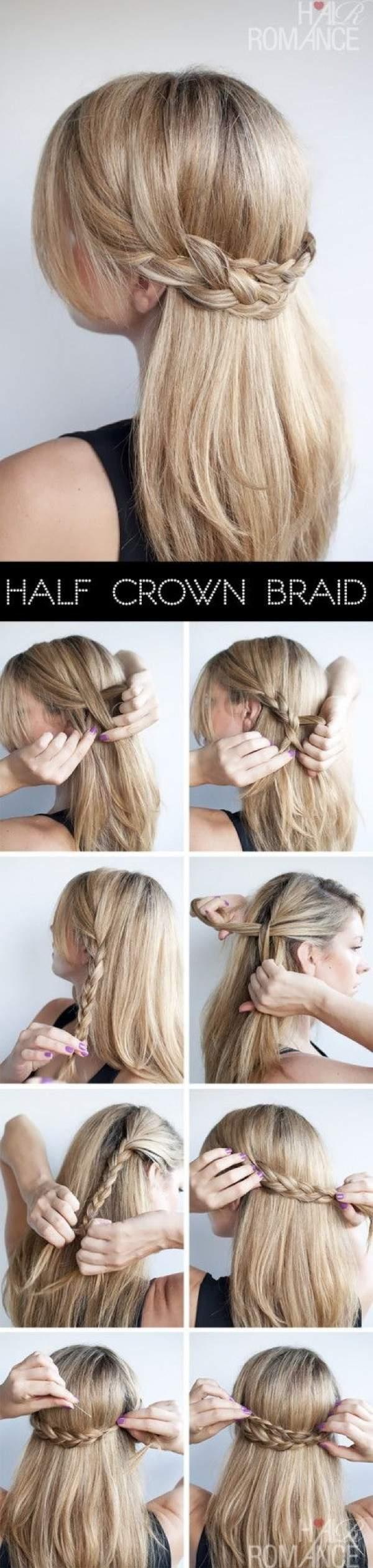 косичка по краю волос схема