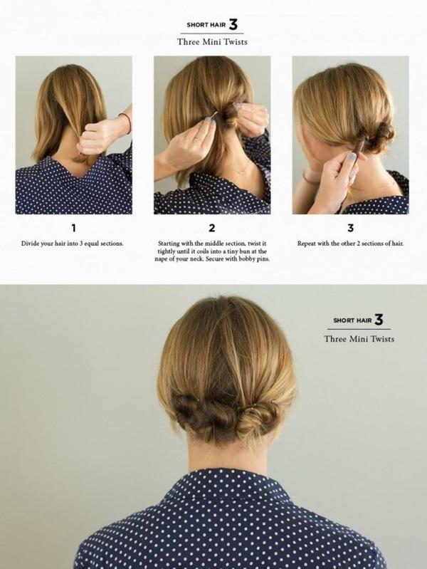Прически себе своими руками на короткие волосы