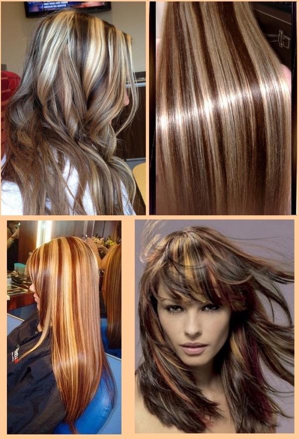 Мелирование на шоколадный цвет волос фото