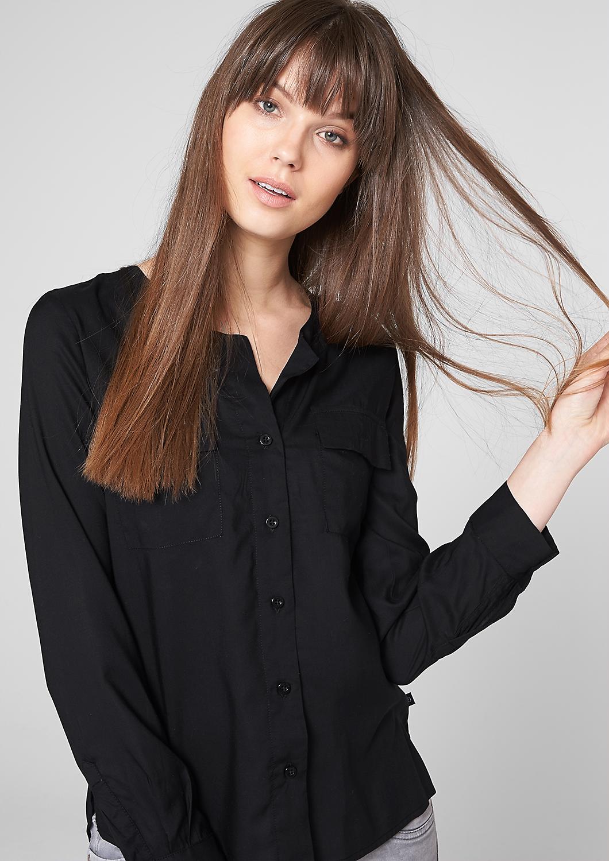 bluse-mit-verlaengertem-rueckensaum-grau-schwarz-45.899.11.0293.9999_front