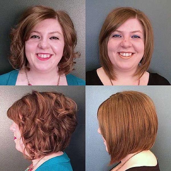Прически на каре волосы фото круглое лицо