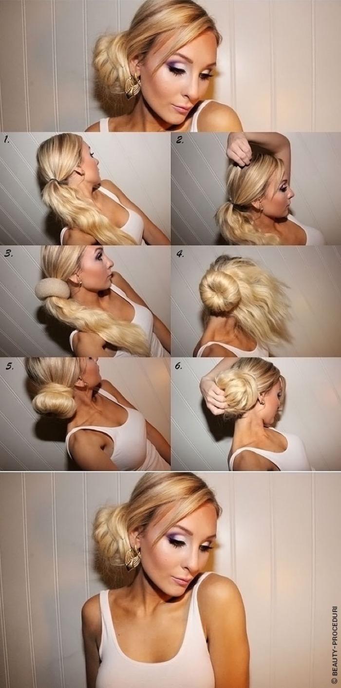 Как правильно делать причёску пучок
