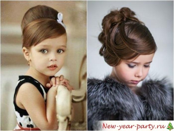 Прически на средние волосы для девочек на фото