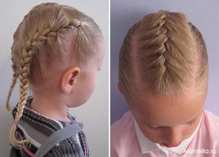 Причёска на каждый день своими руками детская