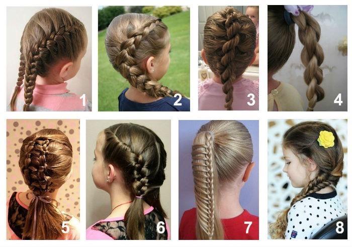 Причёски для длинных волос в школу своими