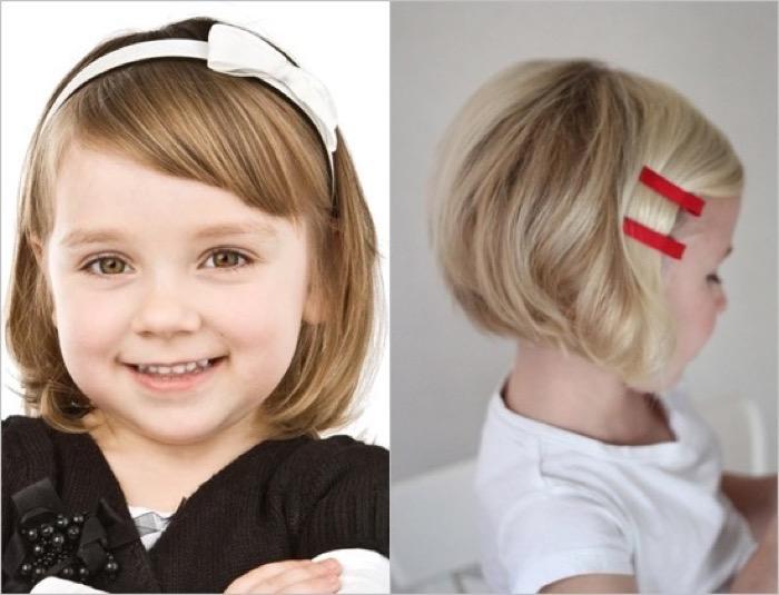 Прически для девочек 7 лет на короткие волосы