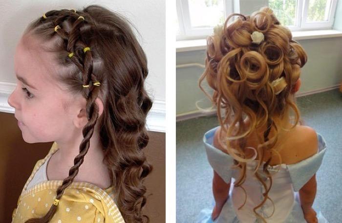 Красивая прическа для девочки на средние волосы