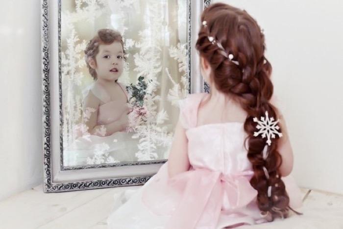 Нарядная прическа девочке 4 года