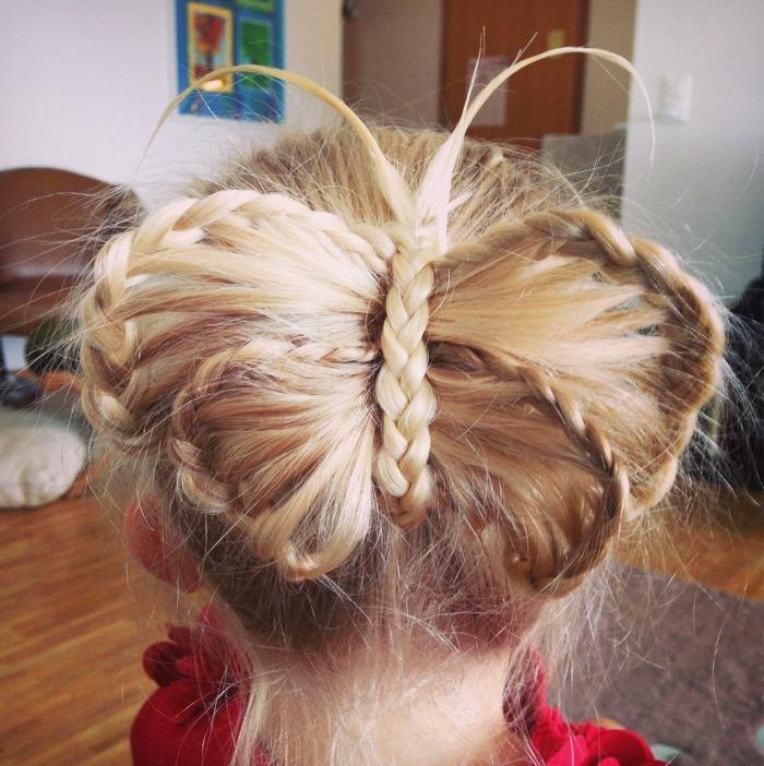 Плетение кос бабочками 37