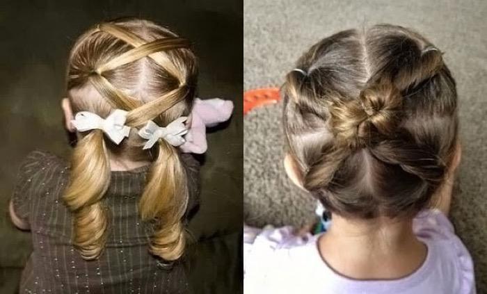 Причёски на каждый день для маленьких девочек