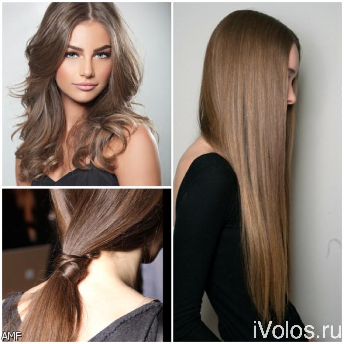 Шоколадно русый цвет волос фото