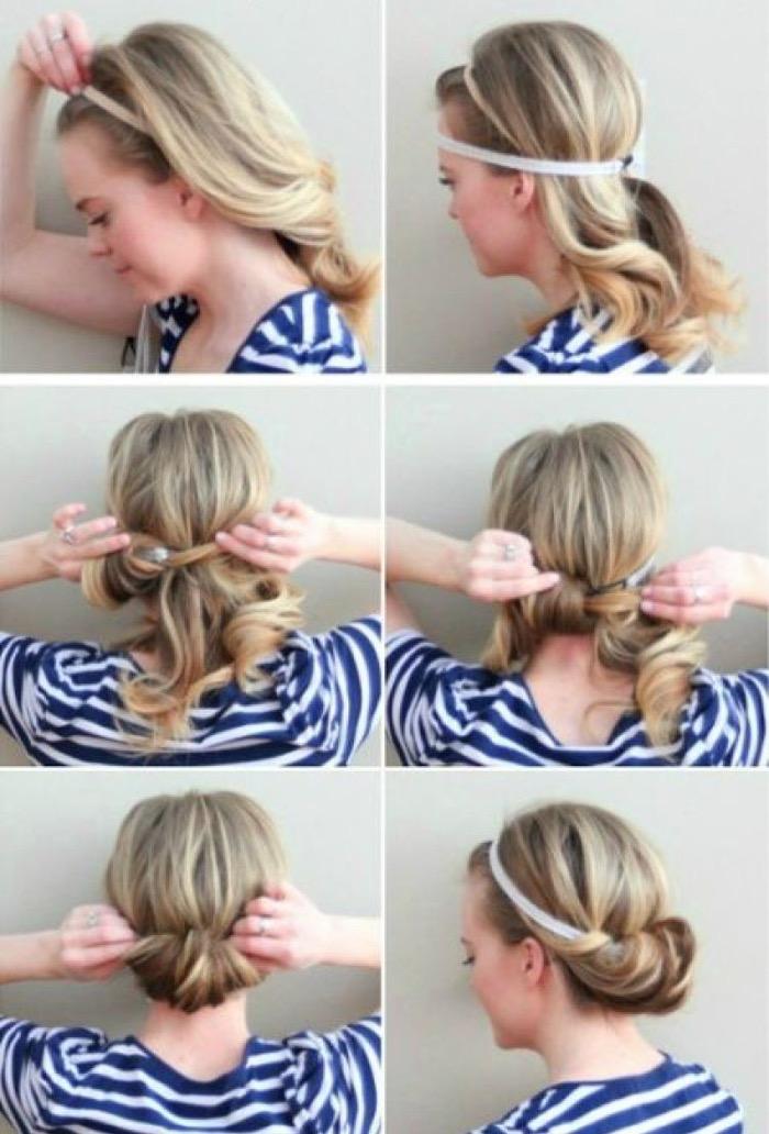 Быстрые прически на средние волосы фото своими руками