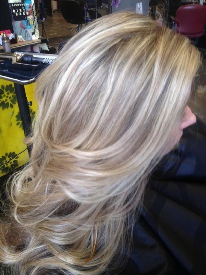 Блонд колорирование цвет волос