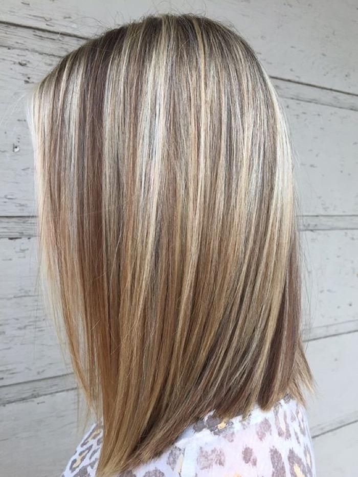 Колорирование на длинные русые волосы фото