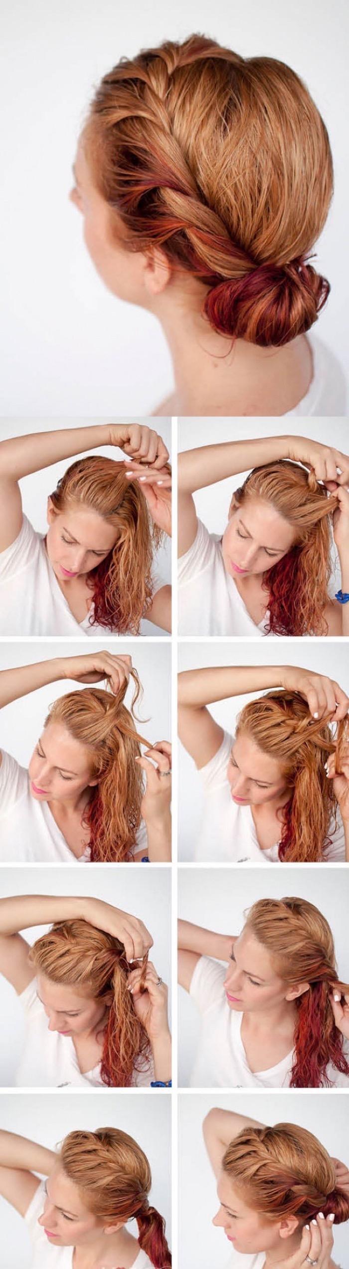 Самые легкие быстрые прически на средние волосы
