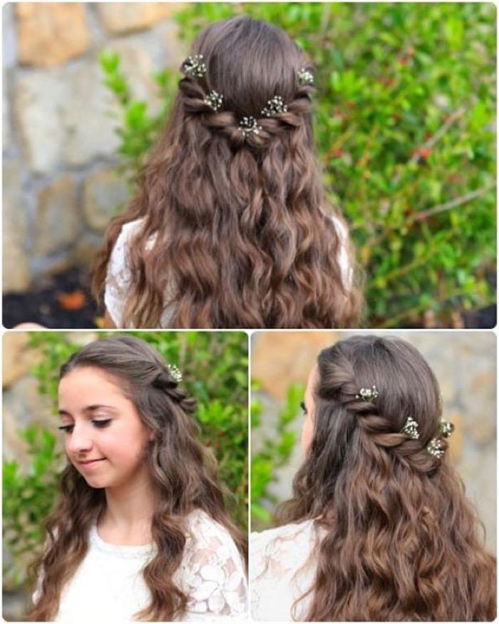 Прически на выпускной в садик на длинные волосы с фото и