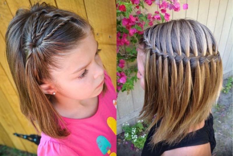 Прически для девочек 11 лет средние волосы видео
