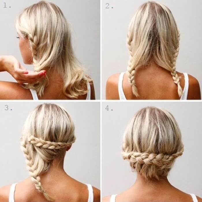 Быстрые причёски на волосы до плеч своими руками